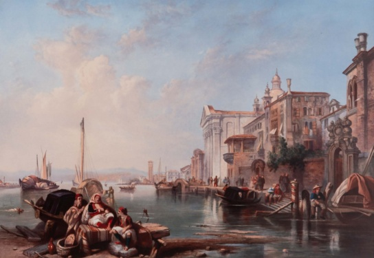 After Clarkson Stanfield RA 'The Canal of the Giudecca & Church of the Jesuits Venice