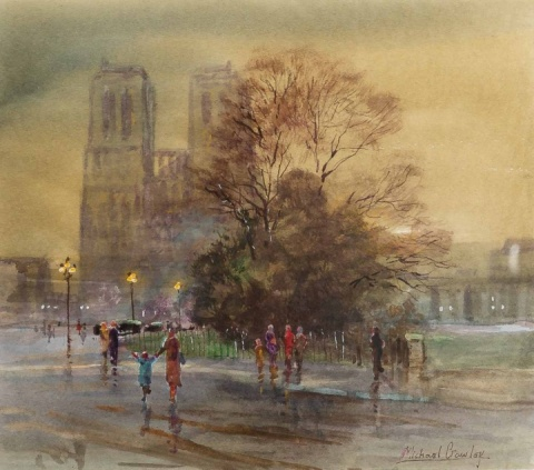 Michael Crawley (b.1938) 'Notre Dame Paris'