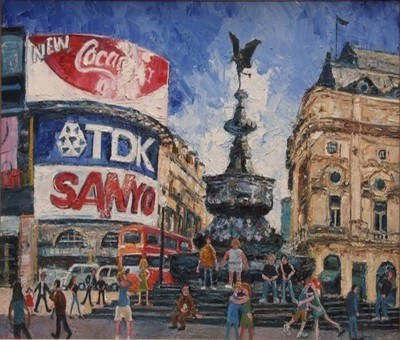 Paul Robinson (b.1959) 'Picadilly Circus'