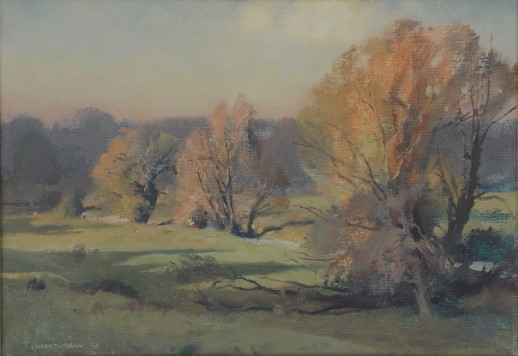 Trevor Chamberlain (b.1933) ROI, RSMA ''Autumn Afternoon'' 1988