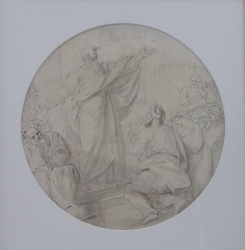 Benjamin West PRA (1738-1820)'Study for Paul preaching at Athens 1799'