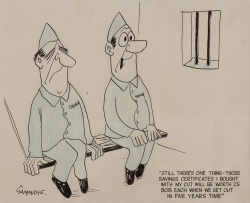 Ian Gammidge (1916-2005) 'Prison cartoon'