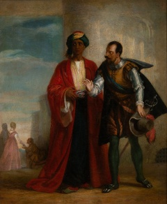 Solomon Alexander Hart RA (1806-81) 'Othello & Iago'