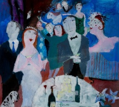Susan Bower (b.1953) 'The Wedding Party'