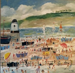 Simeon Stafford (b.1956) 'Beach at St.Ives'