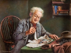 Charles Spencelayh (1865-1958) 'Fresh Today'